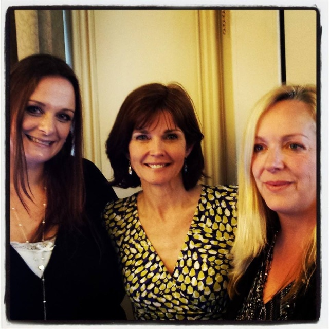 With Annabel Giles and author Isabel Wolff.