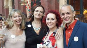 Left to right: Gill Paul, Me, Marnie Riches, Graeme Cameron
