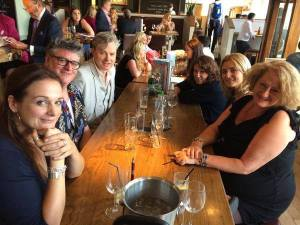 From left to right: Me, Martyn Waites, Simon Toyne, Helen Smith, Tanya Brennand-Dyer (HC), Alex Marwood