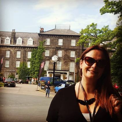 Me outside the Old Swan hotel where the festival takes place
