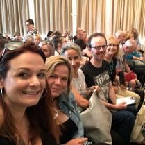 Waiting for the domestic suspense panel. Me, Amanda Jennings, Tammy Cohen, Mark Edwards, Louise Voss